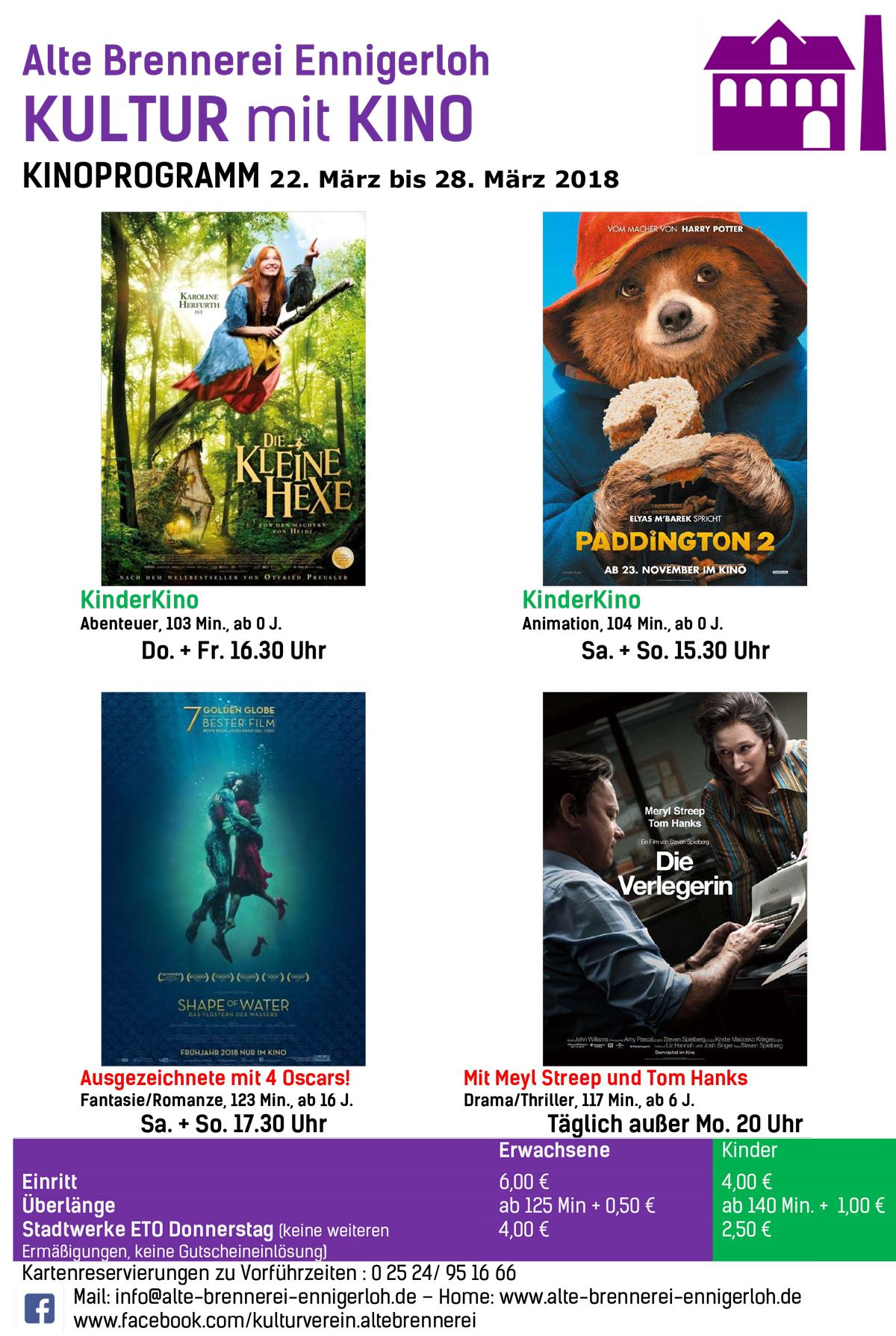 Kino Programm Cinestar