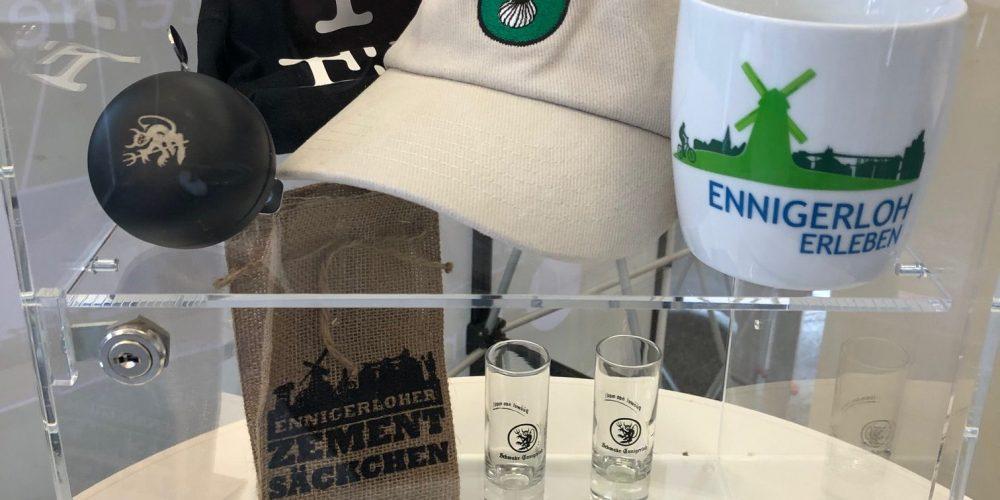 Ennigerloher Souvenirs auch im Briefwahlbüro an der Alleestraße/am Marktplatz ausgestellt