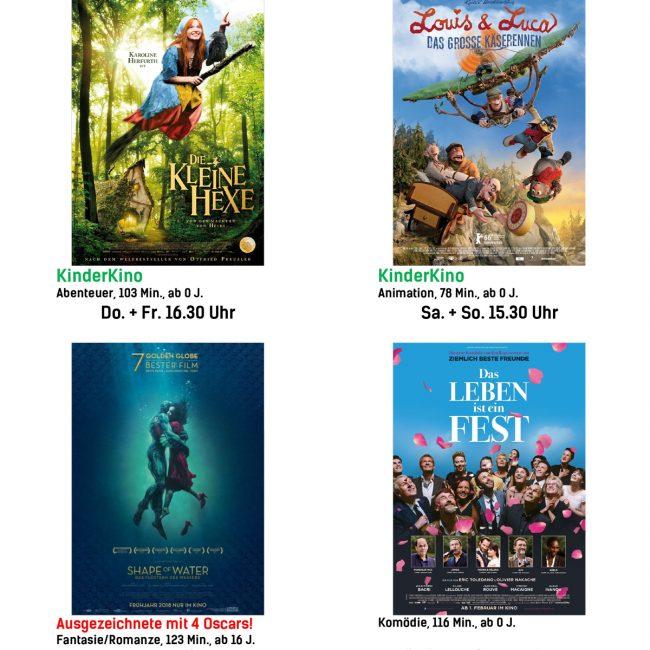 Kinoprogramm vom 15. März bis 21. März 2018