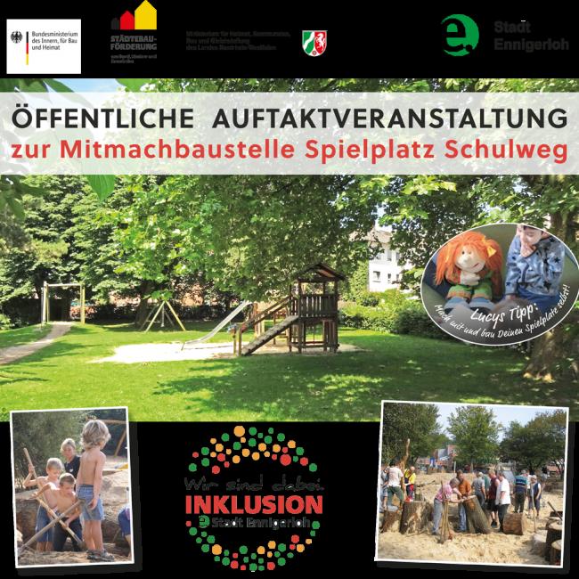 Öffentliche Auftaktveranstaltung  zur Mitmachbaustelle  Spielplatz Schulweg