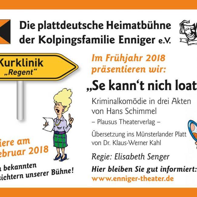 """""""Se kann't nicht loaten!"""" – Theaterpremiere der plattdeutschen Heimatbühne"""