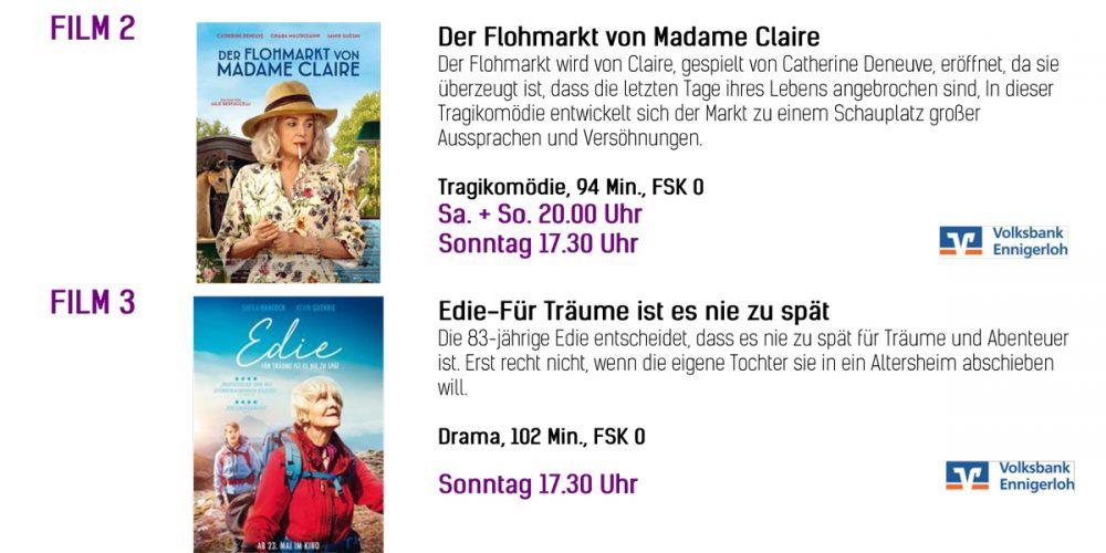 Kinoprogramm vom 11.07 bis zum 14.07.2019