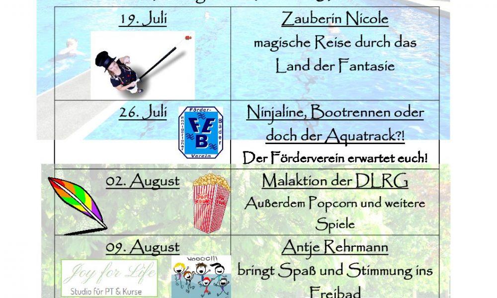 Ferienprogramm Freibad am Stavernbusch