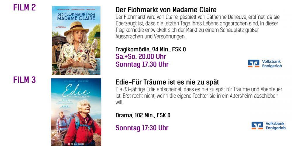 Kinoprogramm vom 04.07-07.07.2019