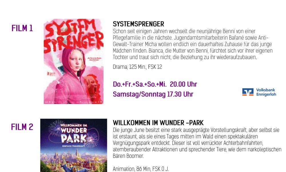 Kinoprogramm 26.09.-02.10.