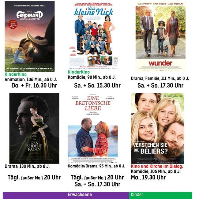 Kinoprogramm vom 01. März bis 7. März 2018