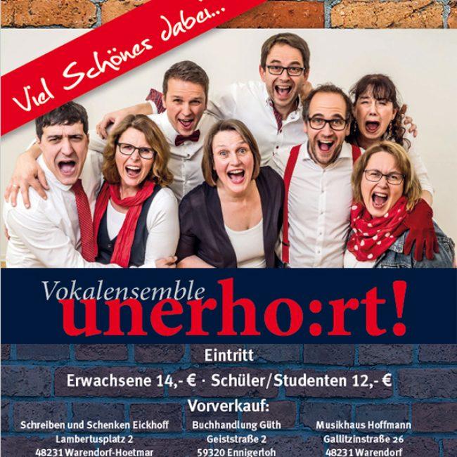 """Vokalensemble unerho:rt! – """"Viel Schönes dabei…"""""""