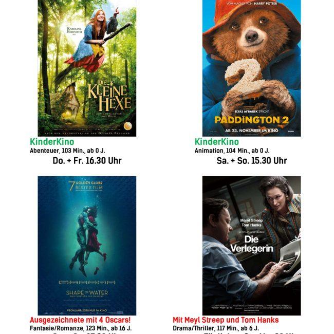 Kinoprogramm vom 22. März bis 28. März 2018