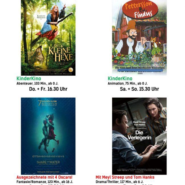 Kinoprogramm vom 29. März bis 4. April 2018