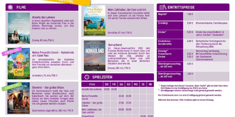 Sommer-Film-Festival in der alten Brennerei Schwake